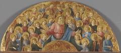 Gottvater mit Engeln: Lünette Himmlische Glorie (Umkreis)