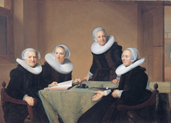 Group portrait of the regentesses of the St. Elisabeths Gasthuis, Haarlem