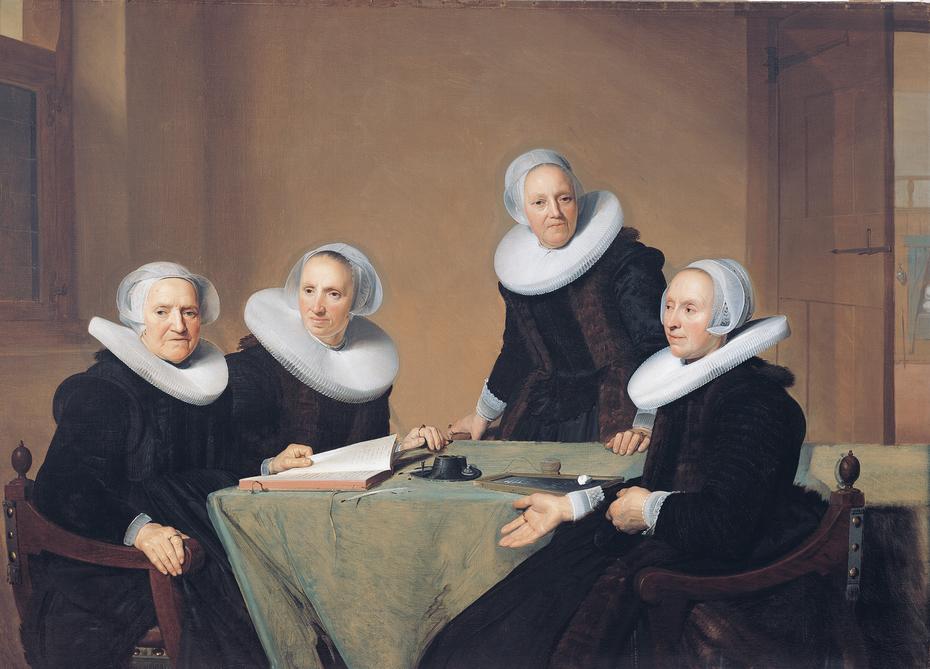 Group portrait of the regentesses of the St. Elisabeths Gasthuis, Haarlem