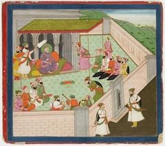 Illustrations to Life of Dhurva Maharaj: #1 Durbar of King Uttan Pad
