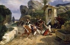 Italian Brigands Surprised by Papal Troops