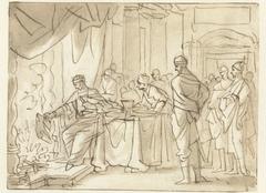 Jojakim verbrandt een boekrol