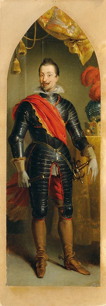 Kaiser Ferdinand II. stehend