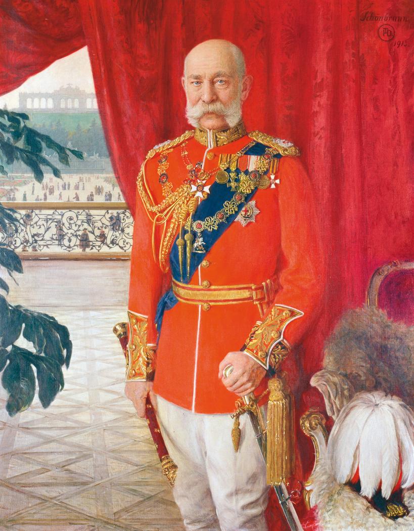 Kaiser Franz Joseph I. in der Galauniform eines britischen Feldmarschalls