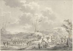 Kamp van het Russisch leger te Callantsoog in 1799