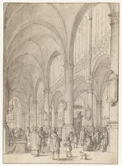 Kerkinterieur van de Sint-Jacobskerk te Antwerpen (?)