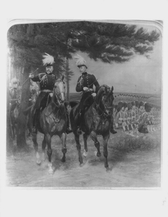 King Edward VII, when Prince of Wales, with Arthur, Duke of Connaught at Aldershot