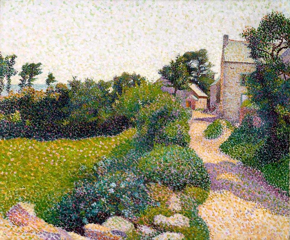 La rue au soleil à Port-Manech (The Road in Sunlight)