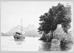 Lake of Lecco (from Switzerland 1869 Sketchbook)