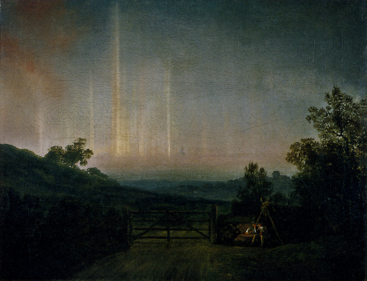 Landscape with Northern Lights