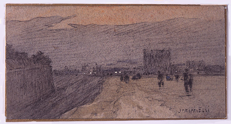 Landscape with Road Approaching the City