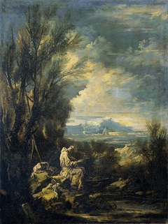 Landscape with Saint Bruno ?