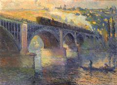 Le Pont aux Anglais, soleil couchant