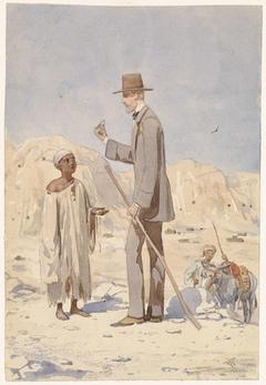 Louis Philippe Albert d'Orleans, bij een opgraving in Egypte