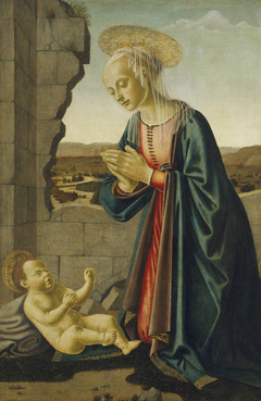 Madonna Adoring the Christ Child