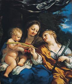 Madonna and Child with Saint Martina