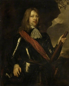 Man In armour, with yellow flowing hair
