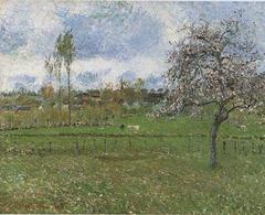 Meadow at Eragny. Apple Tree in Bloom.