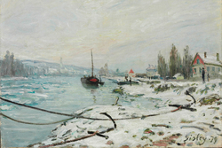 Mooring Lines, the Effect of Snow at Saint-Cloud