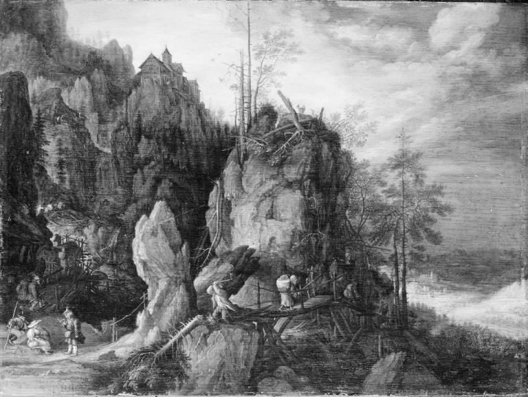 Mountain Landscape with Woodcutters