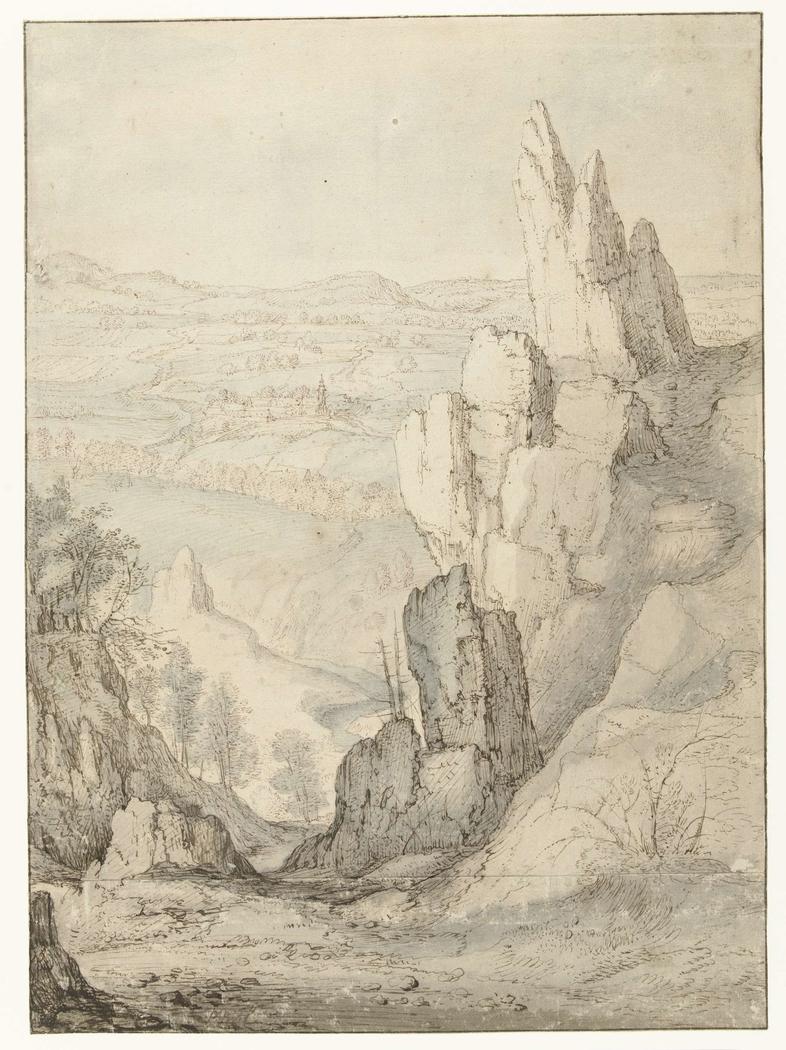 Mountainous Landscape with Steep Cliffs
