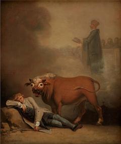Niels Klim thinks he hears the Deacon when he is awakened by a Bull