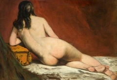 Nude Study Of A Reclining Woman