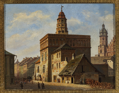 Old town hall at the Wolnica square in Kazimierz, Kraków