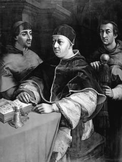 Pave Leo X og kardinalerne Ludovico de' Rossi og Giulio de' Medici. Kopi efter Rafael