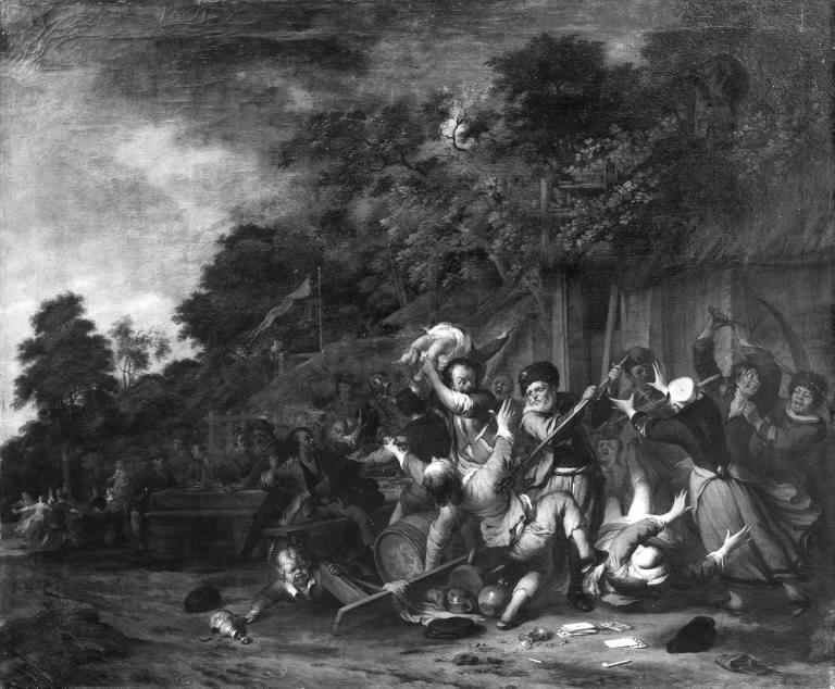 Peasant Brawl near an Inn