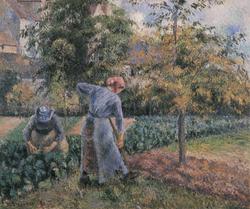 Peasant Woman Digging, the Jardin de Maubuisson, Pontoise
