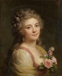 Portrait de femme au corsage fleuri, dit aussi Portrait présumé de Mademoiselle Bélier