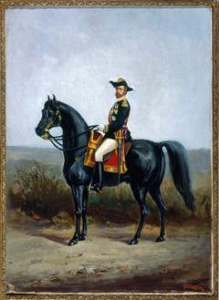 Portrait équestre du général Boulanger (1837-1891), homme politique