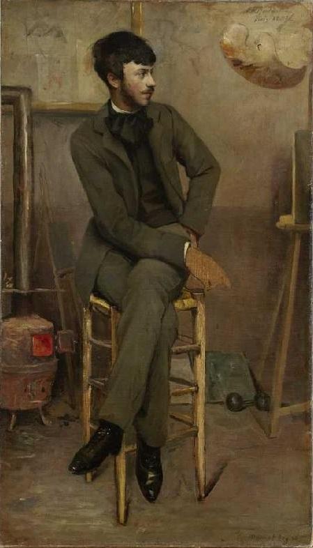 Portrait of a Painter in a Parisian Studio