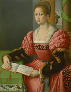 Portrait of a Woman with a Book of Music