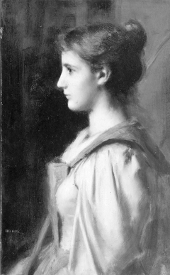 Portrait of a Young Woman in a Red Robe