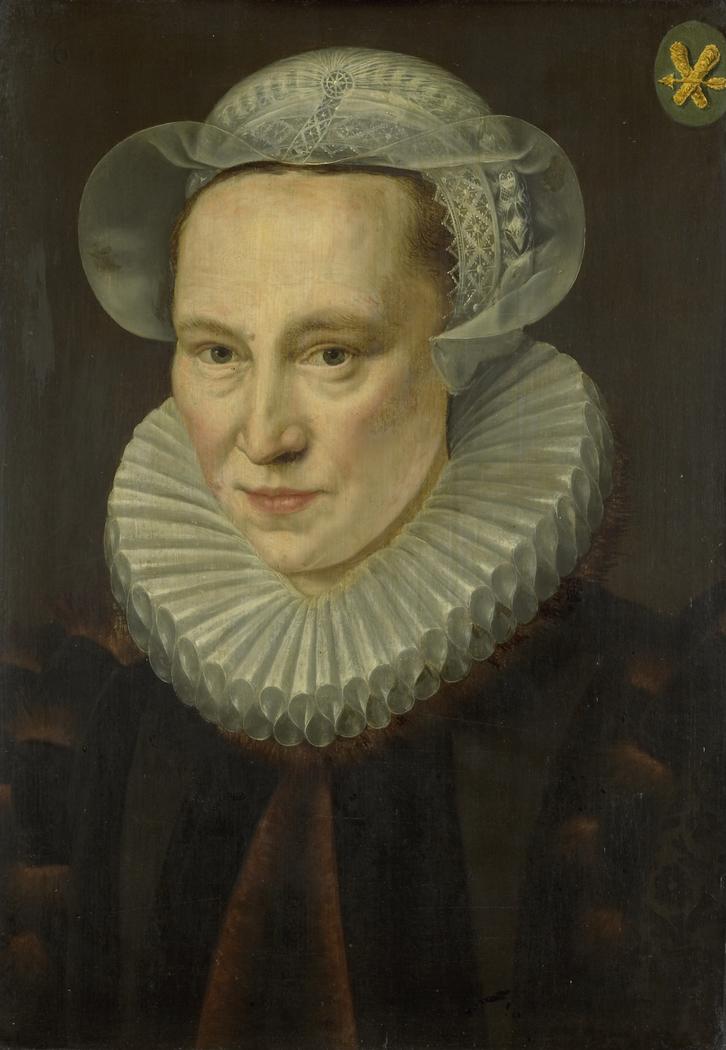 Portrait of Grietje Pietersdr Codde (d. 1607), wife of Jacob Bas