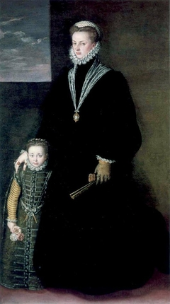 Portrait of Juana of Austria with a Young Girl