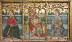 Predella pane with Saint Bridget, Saint Christopher, and Saint Kilian from Retable