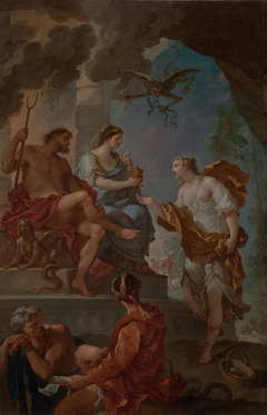 Psyche Obtaining the Elixir of Beauty from Proserpine