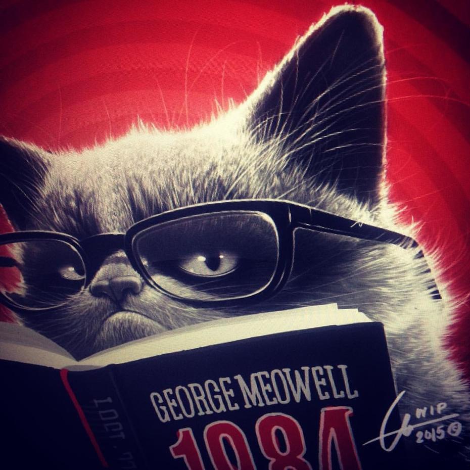 """""""Read..."""" - George Meowell"""