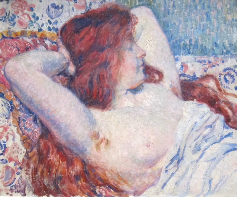 Reclining Woman with Red Hair