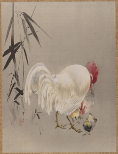 Rooster and Hen with Chicks