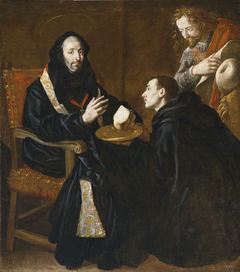 Saint Benedict blessing the Bread