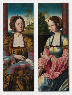 Saint Catherine and Saint Barbara (pair)