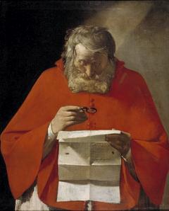Saint Jerome reading a letter