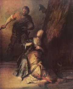 Samson betrayed by Delilah