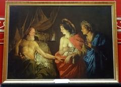 Sarah présentant Agar à Abraham