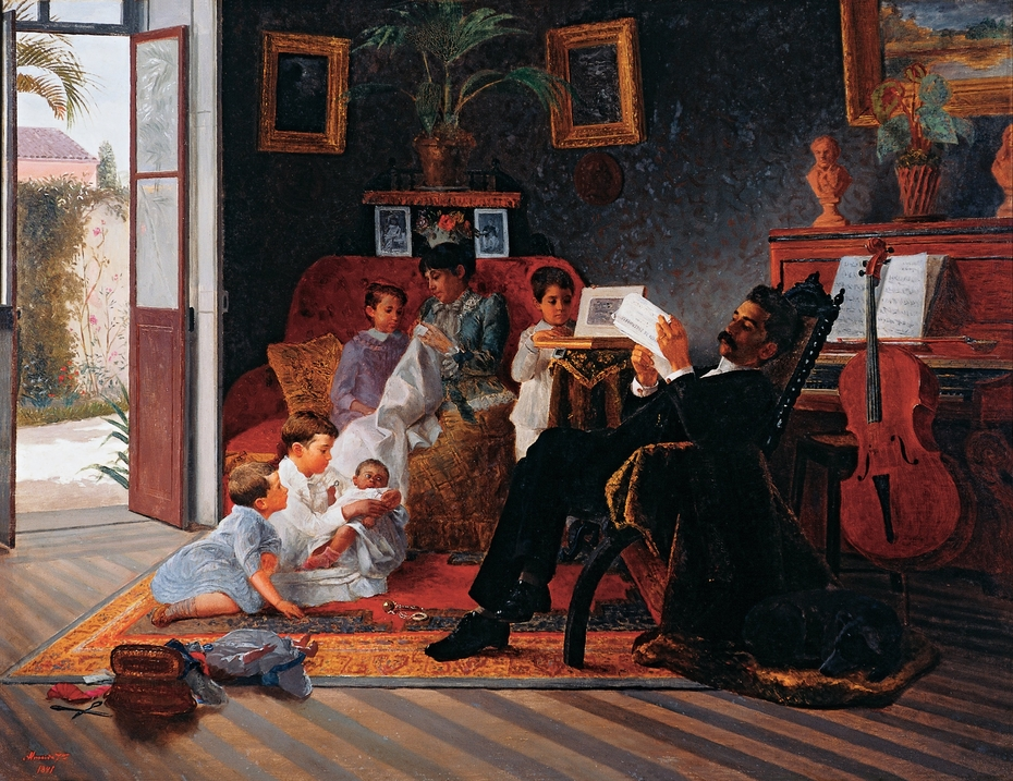 Scene of Adolfo Pinto's Family
