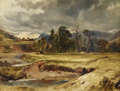 Scottish River Scene with Cattle in a Meadow